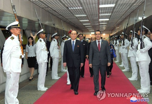 N.K. ceremonial head visits Venezuela
