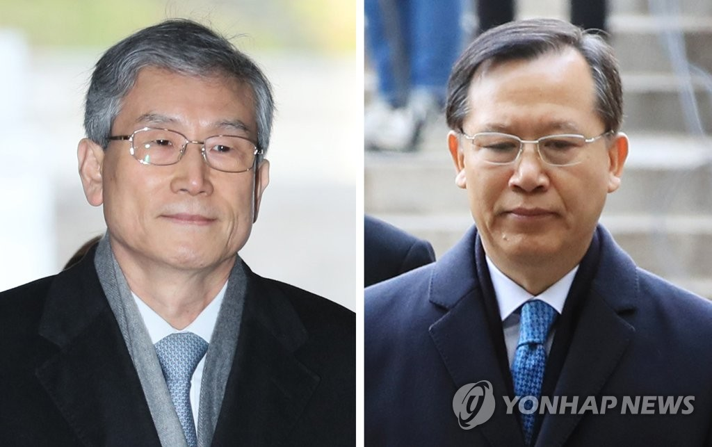 This composite photo shows former Supreme Court Justices Ko Young-han (L) and Park Byong-dae on Dec. 6, 2018. (Yonhap)