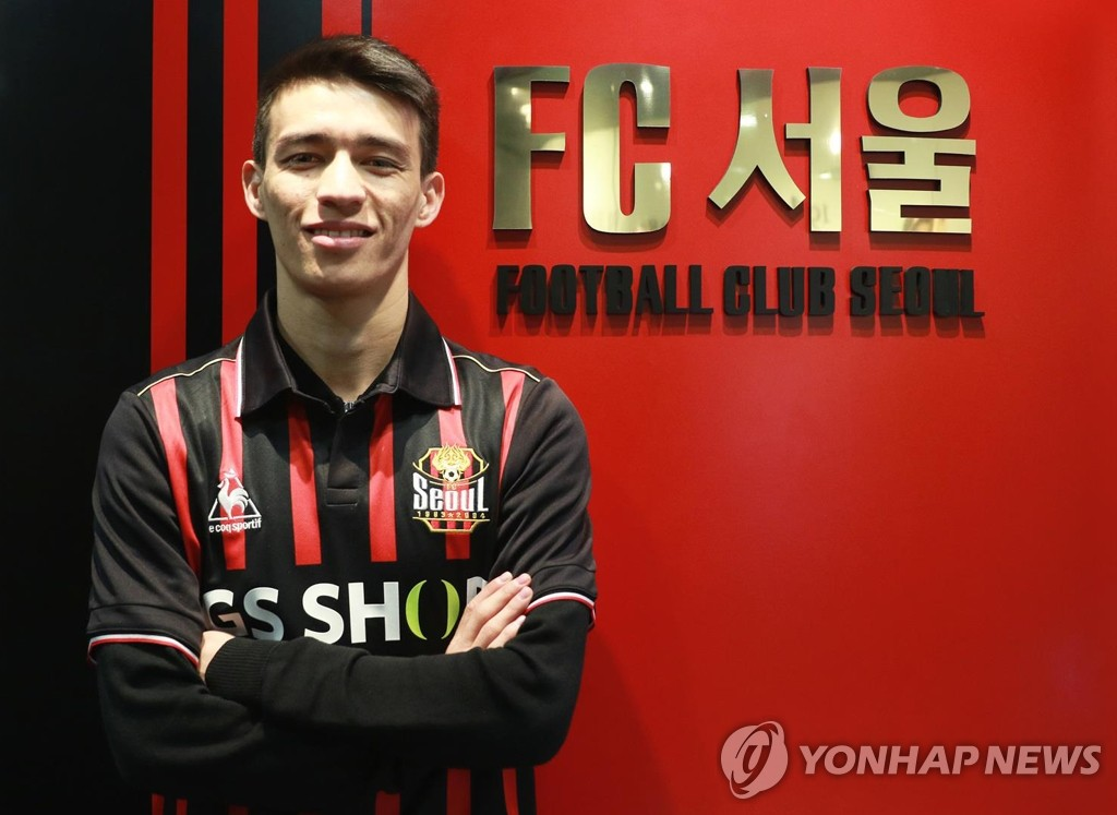 This photo provided by the FC Seoul football club on Dec. 13, 2018, shows the League 1 team's new midfielder, Ikromjon Alibaev. (Yonhap)