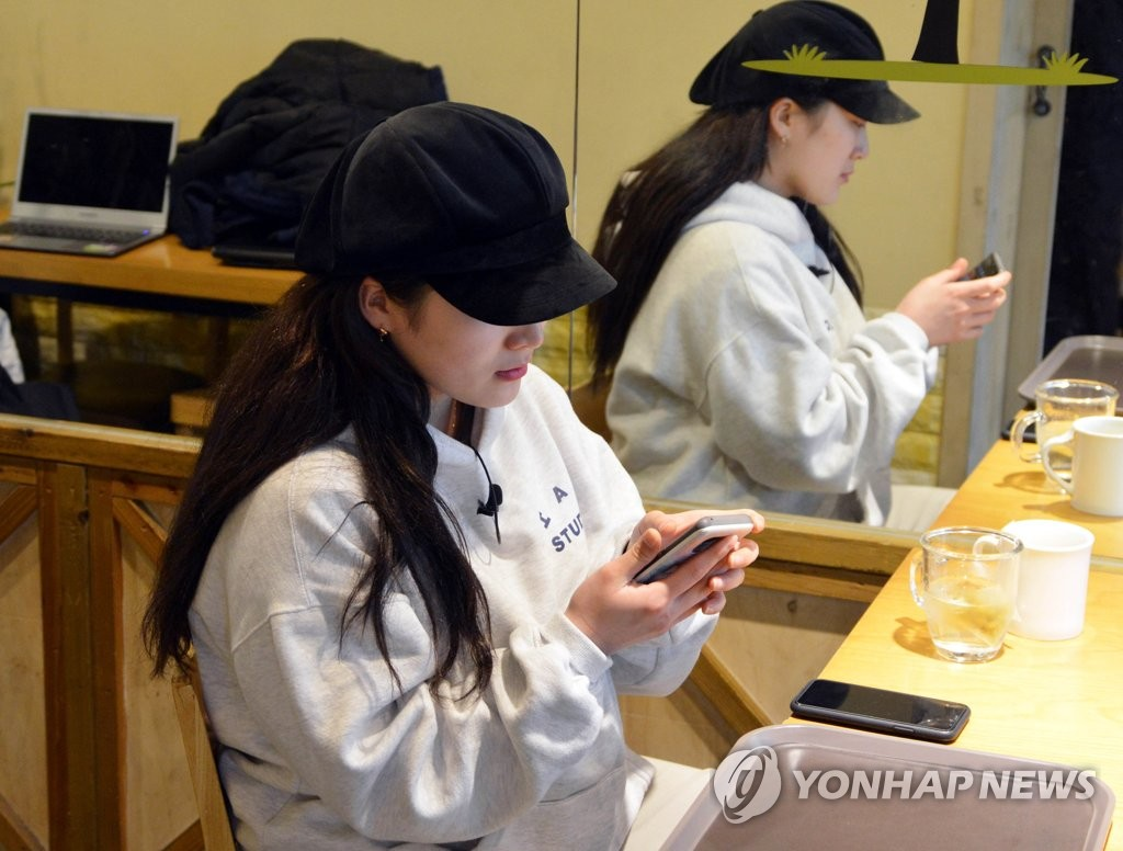 Shin Yu-yong, a former judoka who claims to have been sexually assaulted by her high school coach, speaks to Yonhap News Agency at a cafe in Seoul on Jan. 14, 2019. (Yonhap)