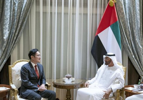 Samsung vice chairman meets UAE crown price