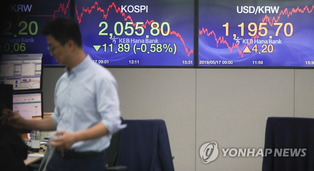 S. Korean stocks dip 7 pct after Trump's tariff remark - 1