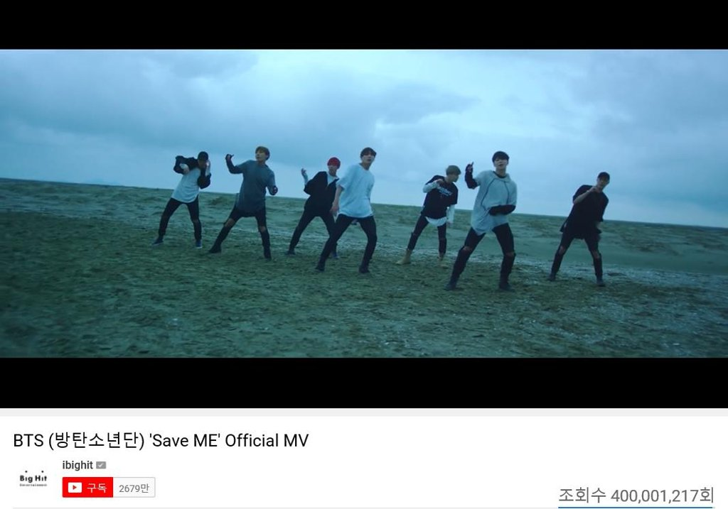 'Save ME' de BTS supera los 400 millones de visualizaciones en YouTube