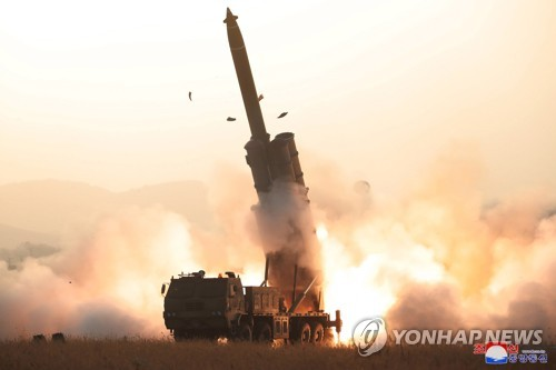 N. Korea's testing of super-large multiple rocket launcher