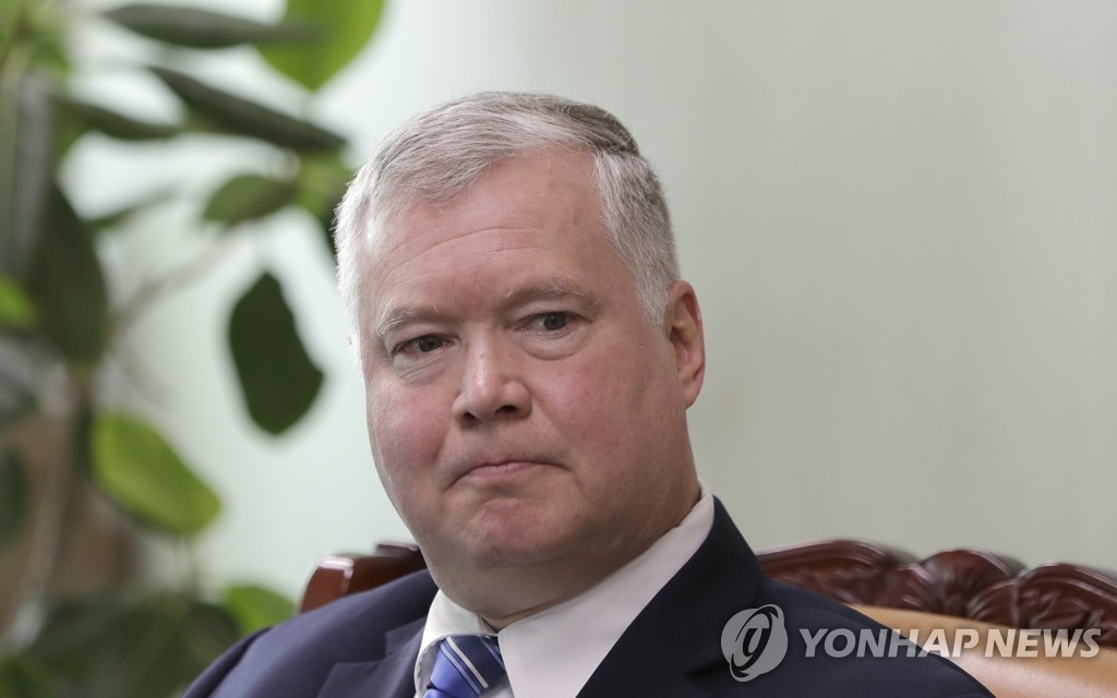 This AP file photo shows U.S. Special Representative for North Korea Stephen Biegun. (Yonhap)