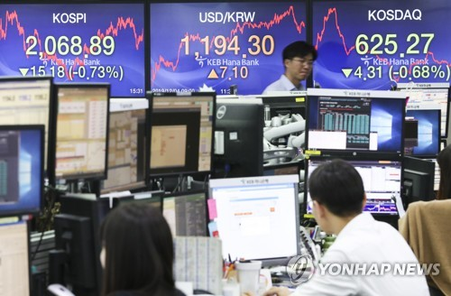 Foreigners' sell-offs of Korean equities continue in Nov.
