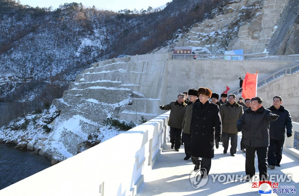 N. Korea completes dam construction to ease power shortages