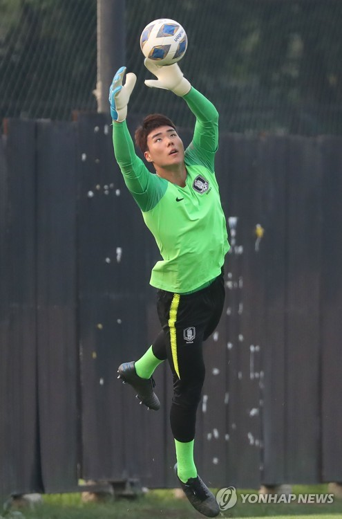 U-23 goalkeeper in training