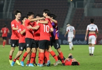 (LEAD) Lucky S. Korea 1 win away from qualifying for Olympic men's football tournament