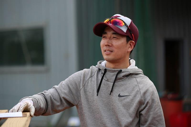 This photo provided by the Kiwoom Heroes on Oct. 8, 2020, shows Kim Chang-hyeon, the Korea Baseball Organization club's interim manager. (PHOTO NOT FOR SALE) (Yonhap)
