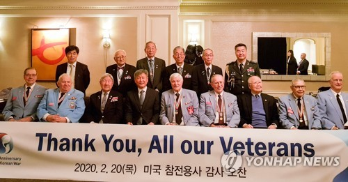 Minister meets U.S. Korean War vets