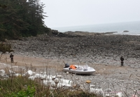 (LEAD) Boat found abandoned on west coast beach, illegal entry suspected