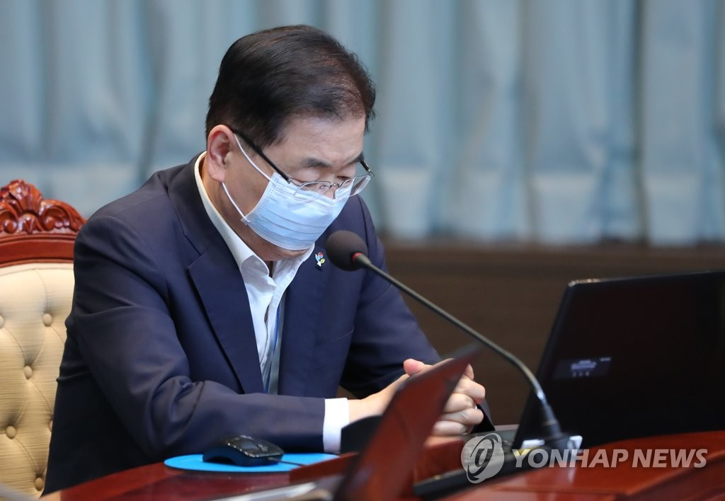 Chung Eui-yong, director of Cheong Wa Dae's national security office, in a file photo. (Yonhap)
