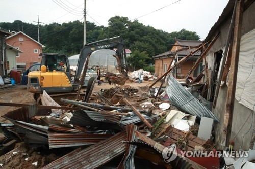 Downpours continue to grip S. Korea