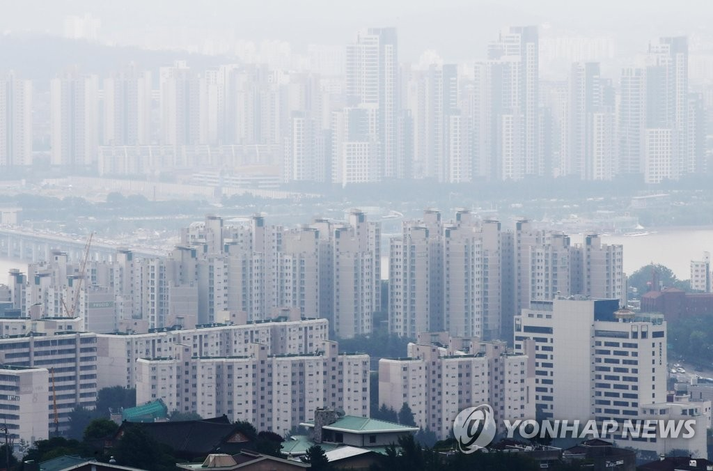 남산에서 바라본 서울 시내 모습