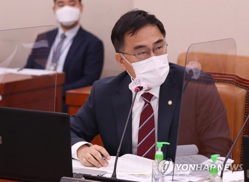 문체위 국감 질의하는 국민의힘 최형두 의원