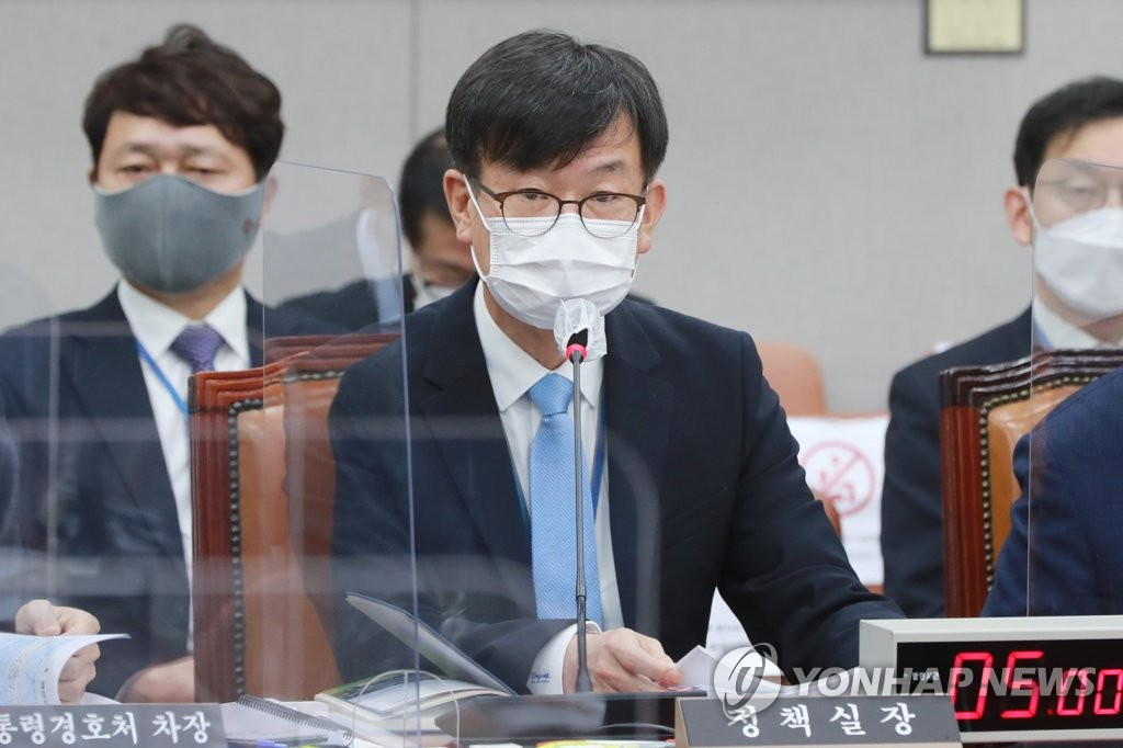 Kim Sang-jo, the outgoing Cheong Wa Dae chief of staff for policy (Yonhap)