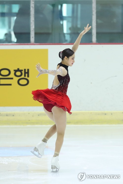 S. Korean figure skater Wi Seo-young