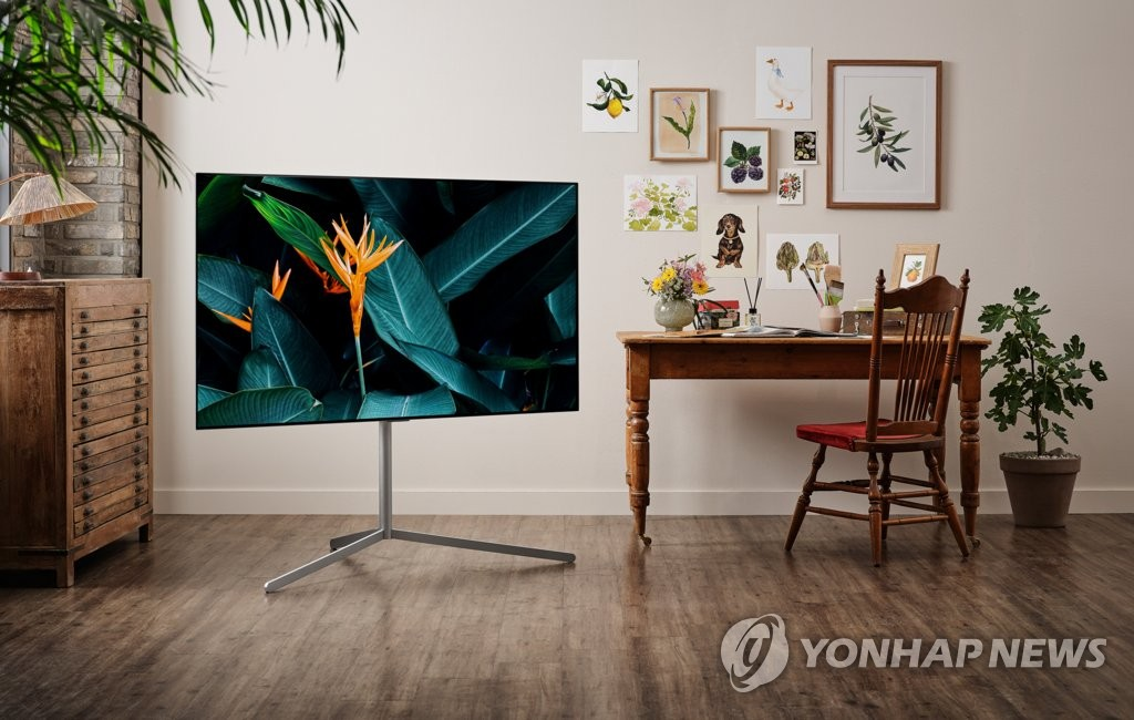This photo provided by LG Electronics Inc. on March 28, 2021, shows the company's OLED evo TV. (PHOTO NOT FOR SALE) (Yonhap)