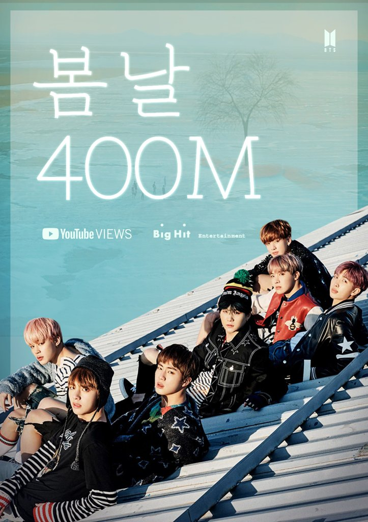 Le clip vidéo «Spring Day» de BTS a marqué 400 millions de vues sur YouTube le lundi 5 avril 2021, d'après une annonce de la maison de production Big Hit Music. (Photo fournie par Big Hit Music. Revente et archivage interdits).