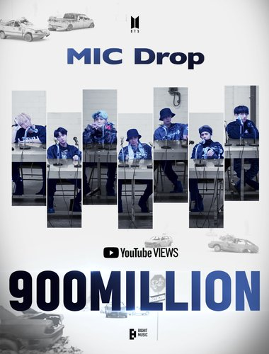«MIC Drop remix», plus de 900 Mlns de vues