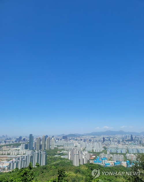 Blue skies in Seoul