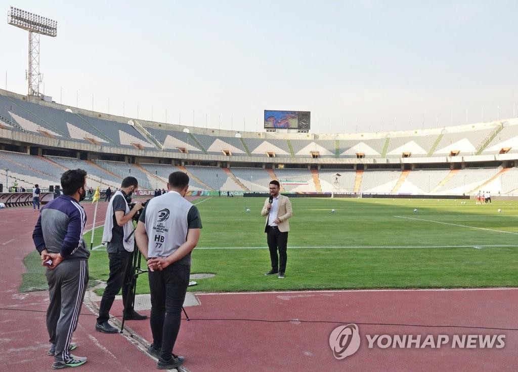 한국전 취재하는 이란 언론